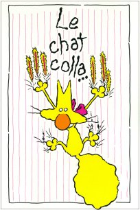 Le chat colla...