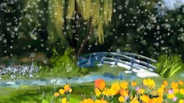 Peintres et légendes –  Le jardin de givre