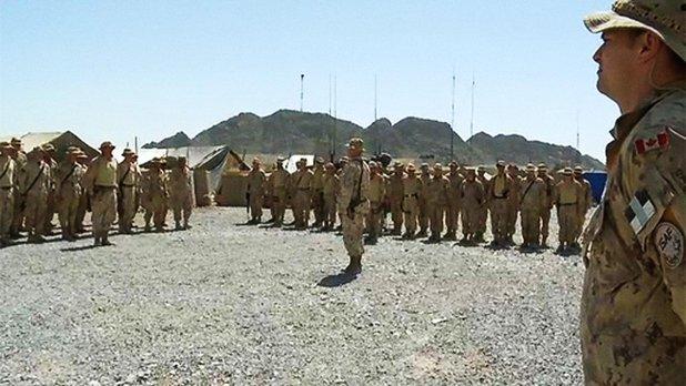 Le 22e Régiment en Afghanistan - Une minute de silence