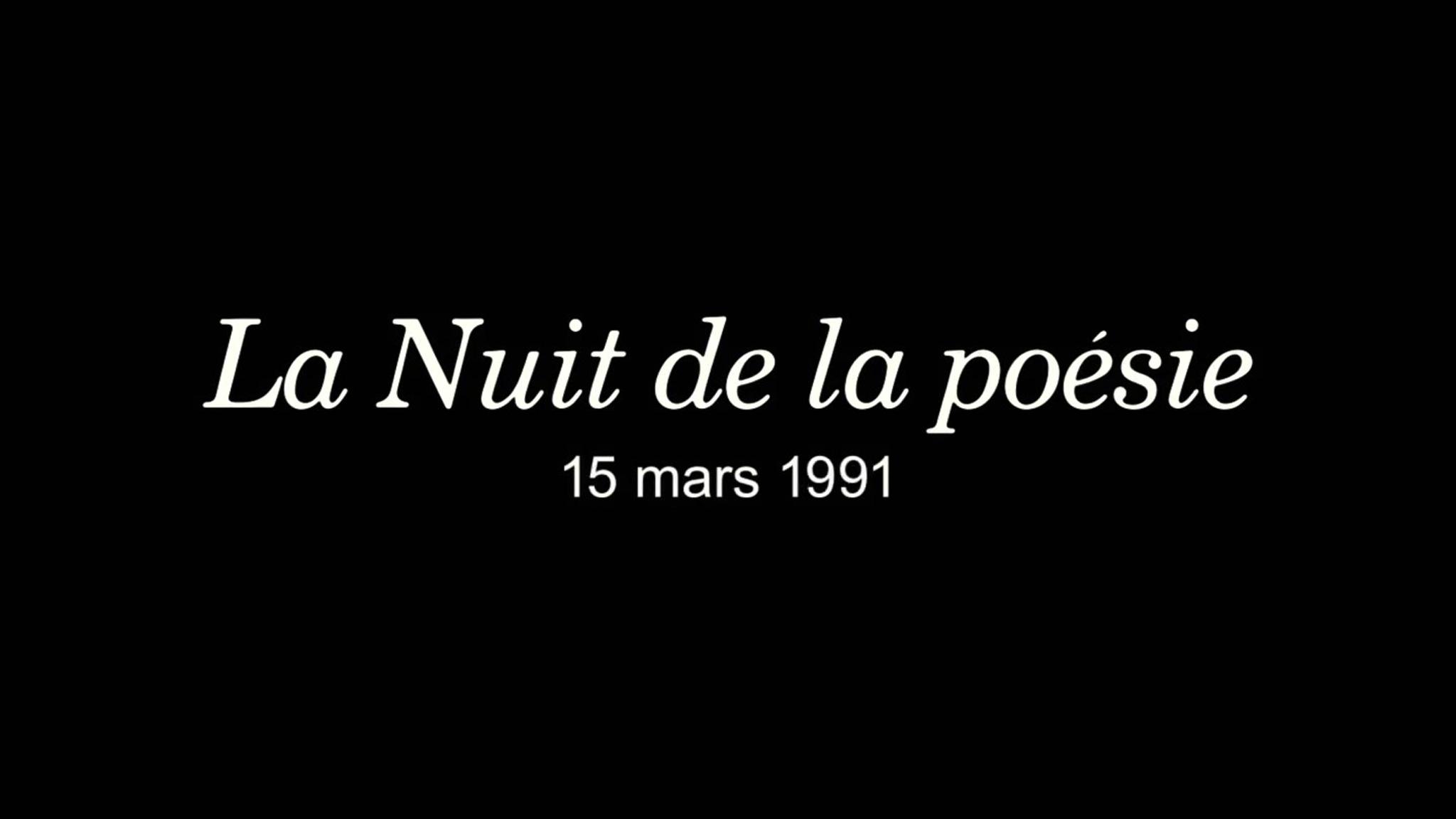 Les Nuits de la poésie (14 ans et +)